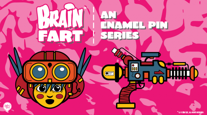 New Kickstarter: BRAIN FART, an enamel pin series