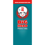Big Head Productions Vertical Banner Display