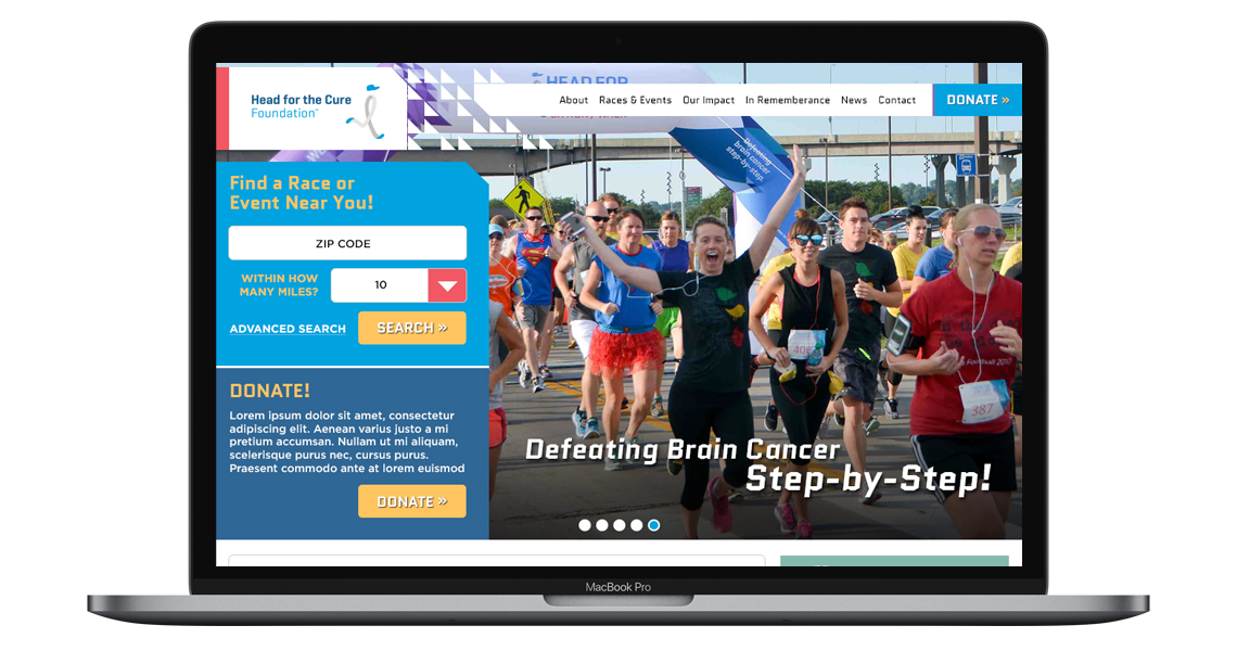 Web & UX: Website Redesign, Head for the Cure Foundation