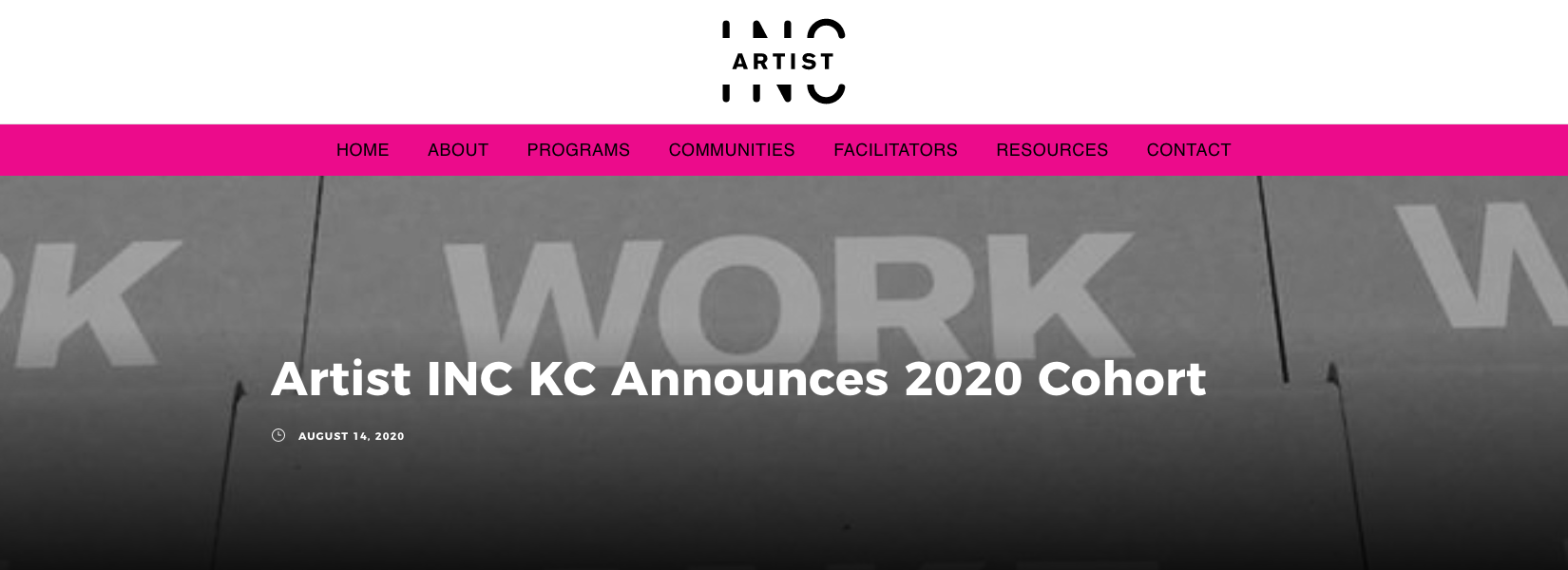 Artist Inc 2020 Cohort